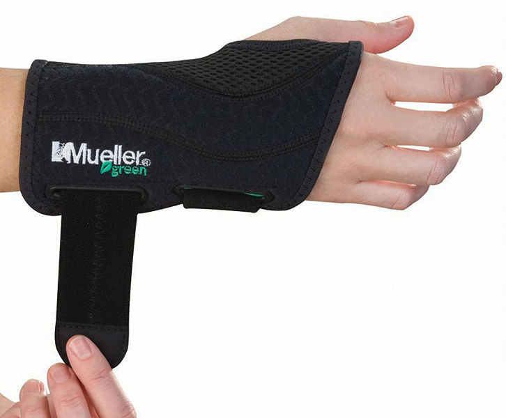 Mueller Fitted Wrist Brace Green Line